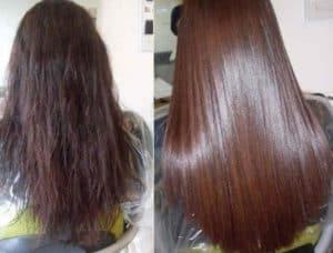 волосы до и после кератизации