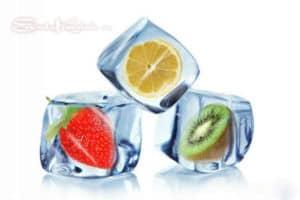 фруктовые кубики льда