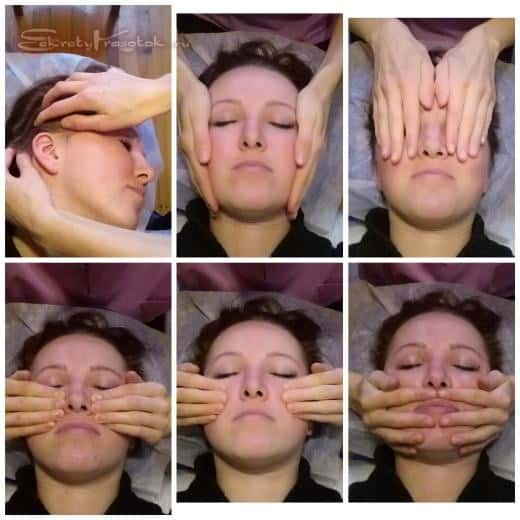 этапы проведения миофасциального массажа лица