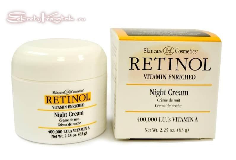 ретинол с кремах для лица