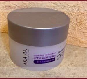 Крем для лица Aravia с мочевиной 10% вернет кожу к жизни — отзыв с фото