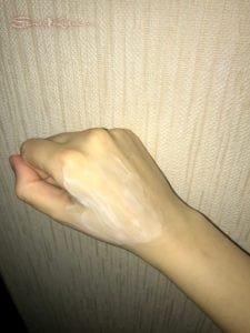 фот крема аравия на руке