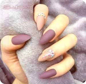матовое покрытие ногтей