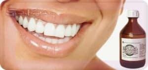отбелить зубы перекисью водорода